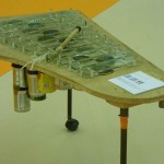 Xylophone fabriqué avec des produits recyclés