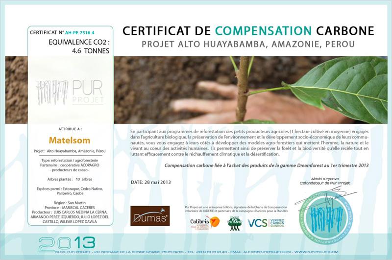 Le certificat de compensation carbone à découvrir ici